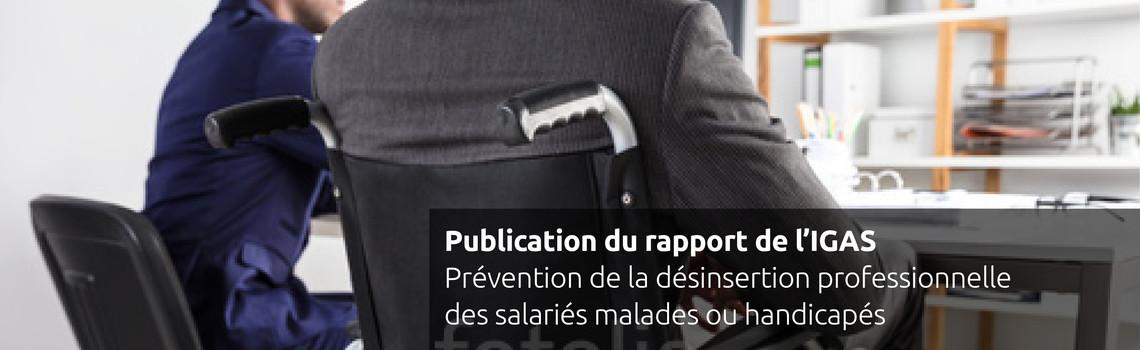 Publication rapport IGAS prévention de la désinsertion professionnelle