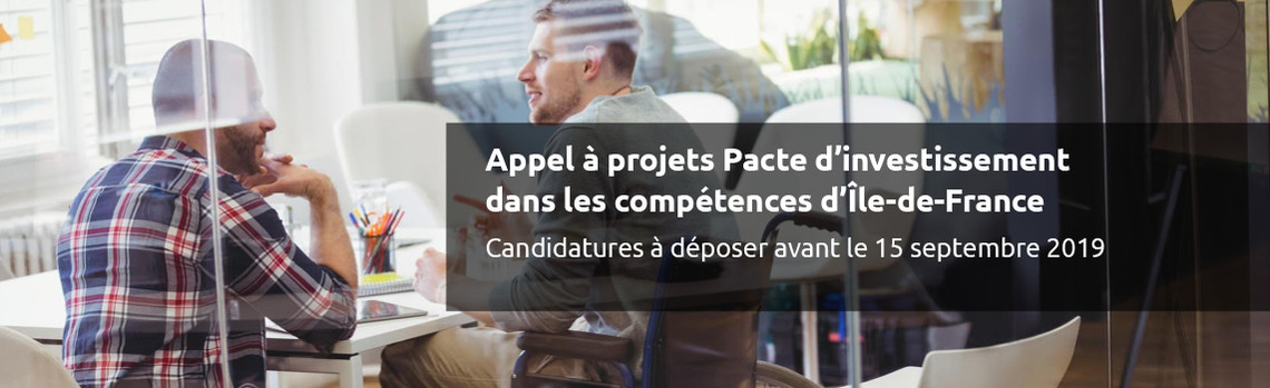 Appel à projets Pacte dinvestissement