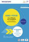 Flyer Handi Forum, tous différents, tous compétents